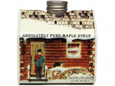 Log Cabin Tin Pint - 100% Pure Vermont Maple Syrup